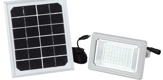 SF02 60LED Solar Flood Wall Mount Light Floodlight Spotlight Lamp