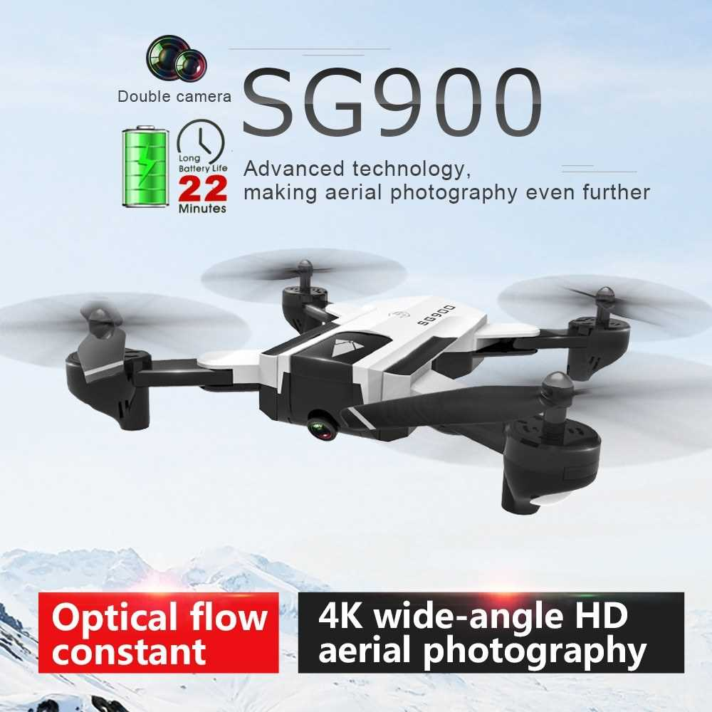 SG900 RC Drone with Camera 4K 22mins Flight Time RC Quadcopter Optical Flow Po