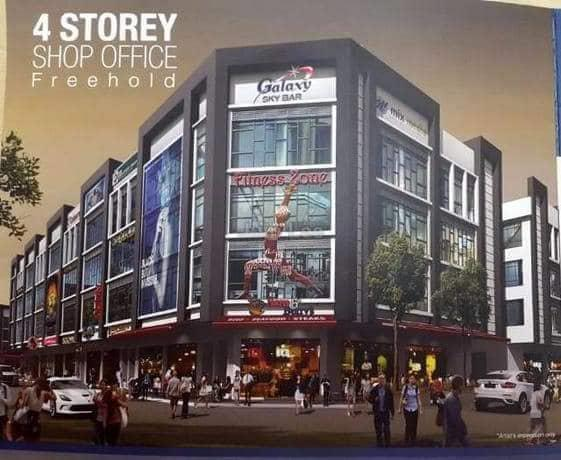 Shah Alam New 4 Story Shoplot SS25 for Sale
