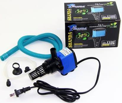 SHANDA SD1100 - 3 in 1 Multi Function Aquarium Rotary Pump