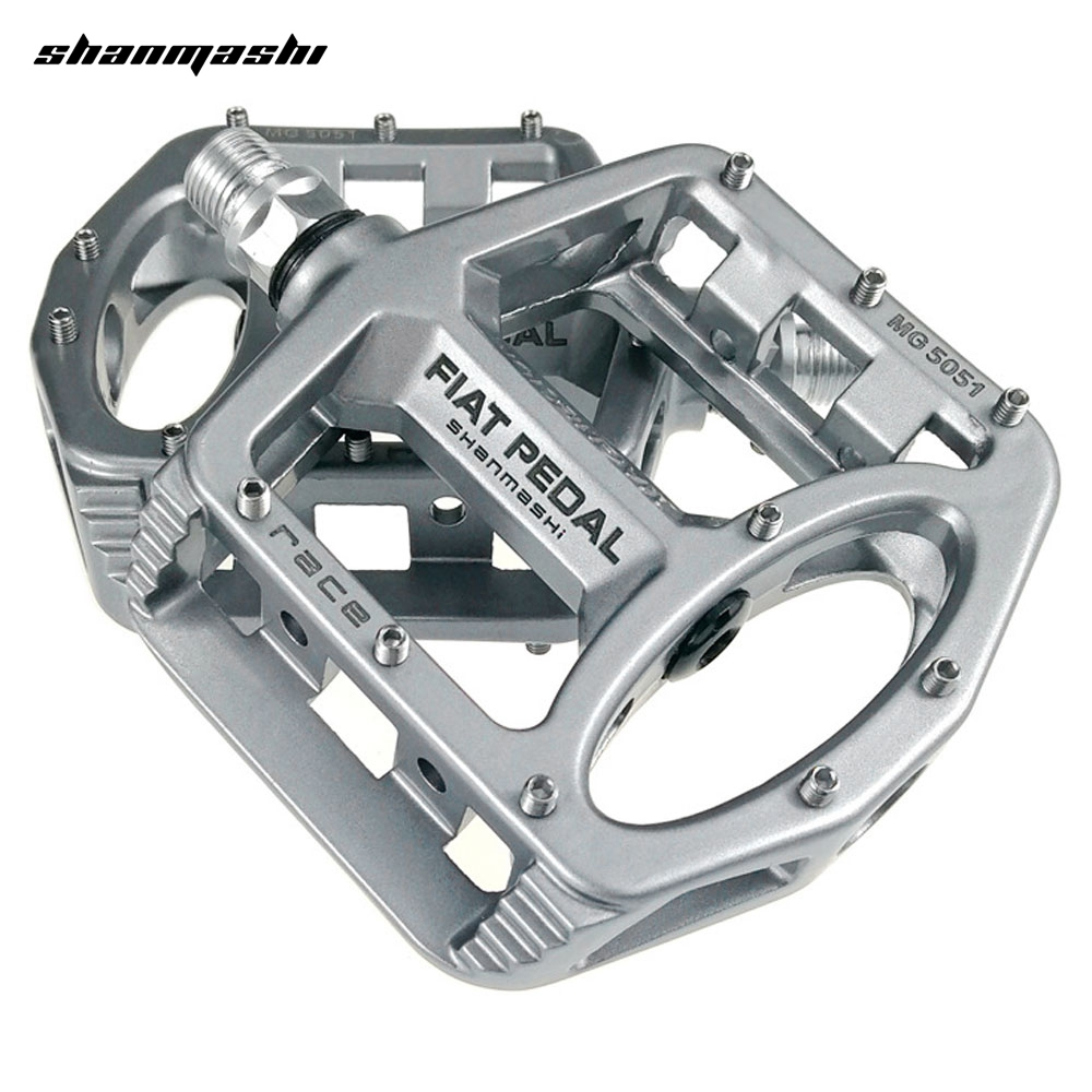 shanmashi MG 5051 2PCS Flat Bicycle Pedals Magnesium Alloy