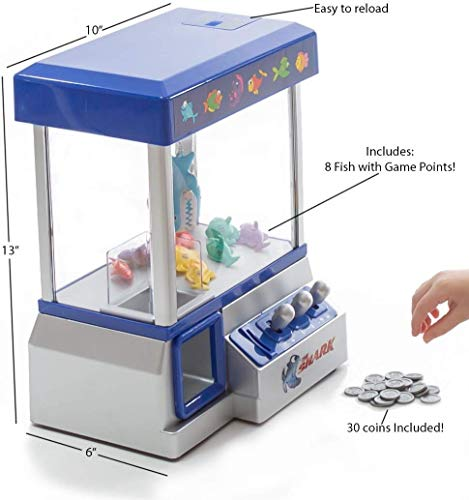 The Shark Arcade Claw Game Machine for Kids of All Ages (includes Tokens) - Cr
