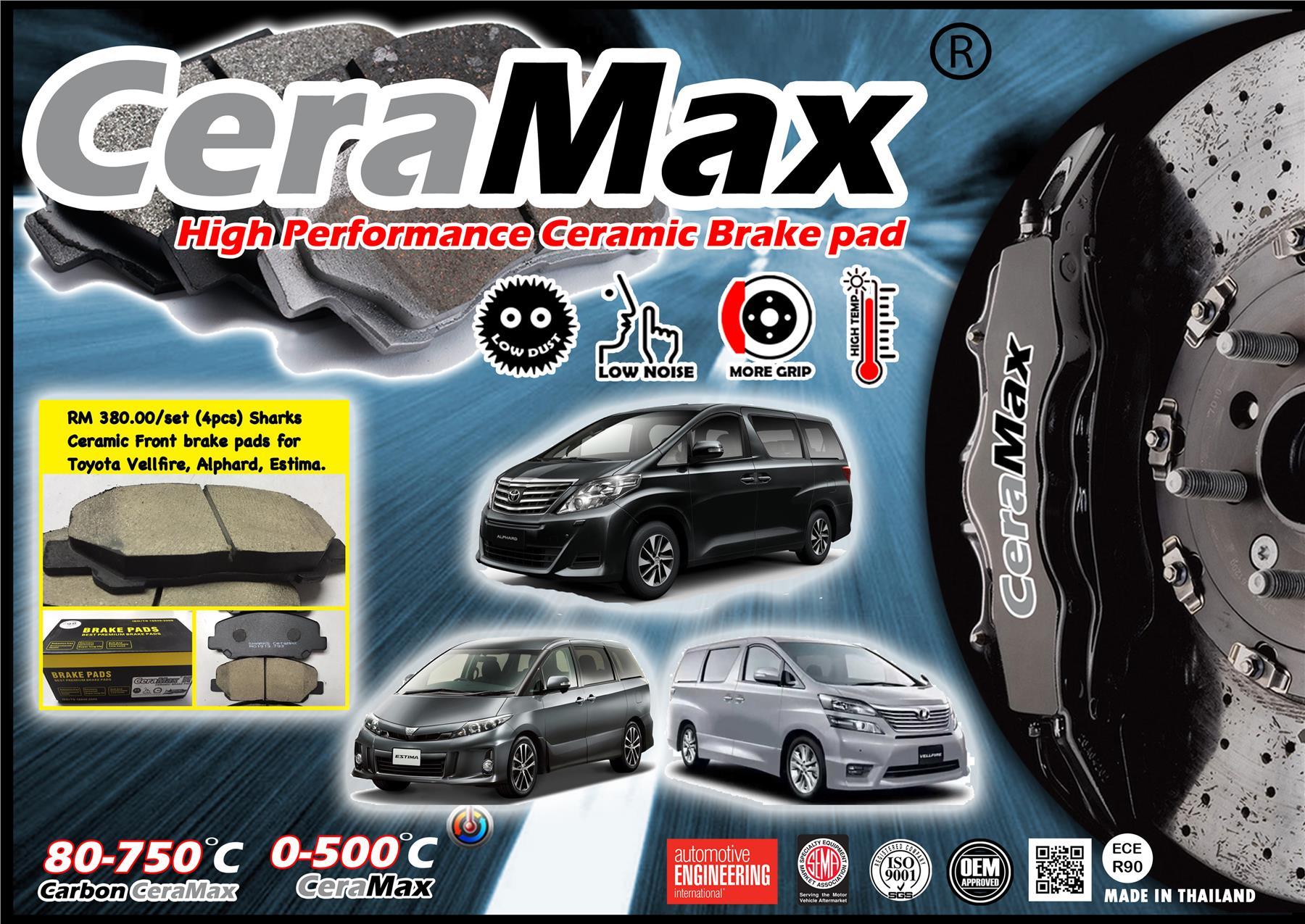 Sharks Ceramax Carbon Ceramic Brake Pads Vellfire / Alphard / Estima