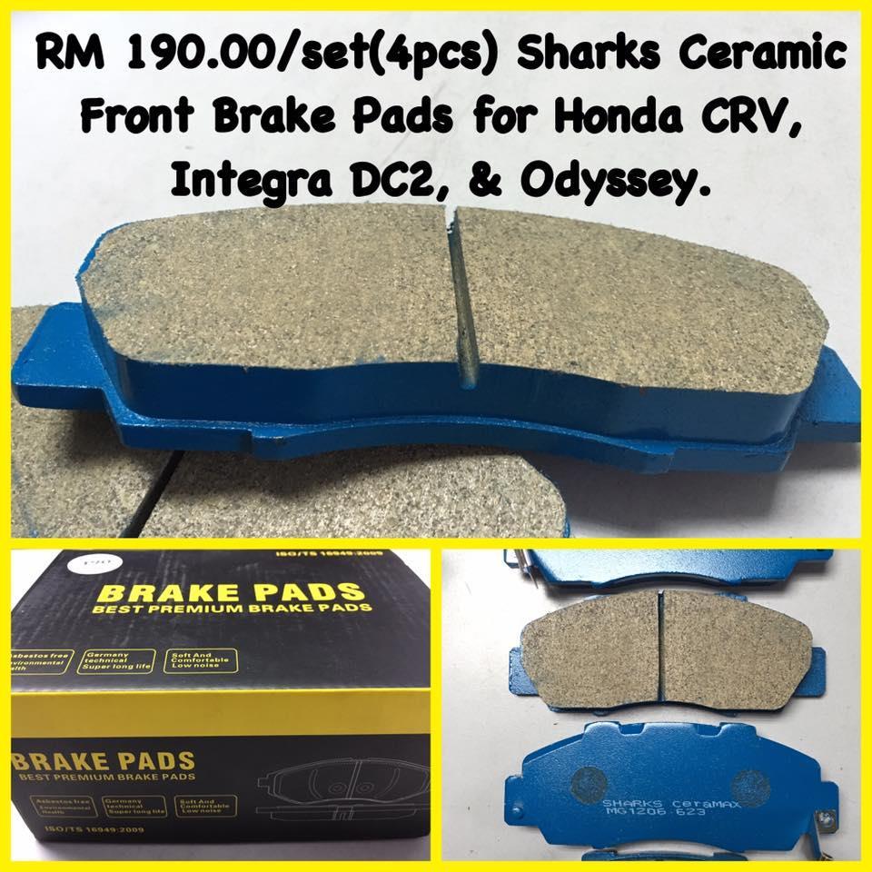Sharks Ceramic Front Brake Pads Honda Integra. U2039 U203a