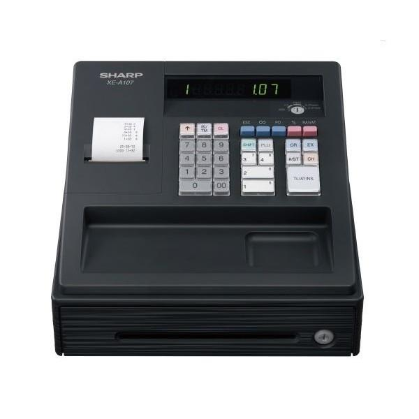 SHARP BLACK XE-A107 CASH REGISTER