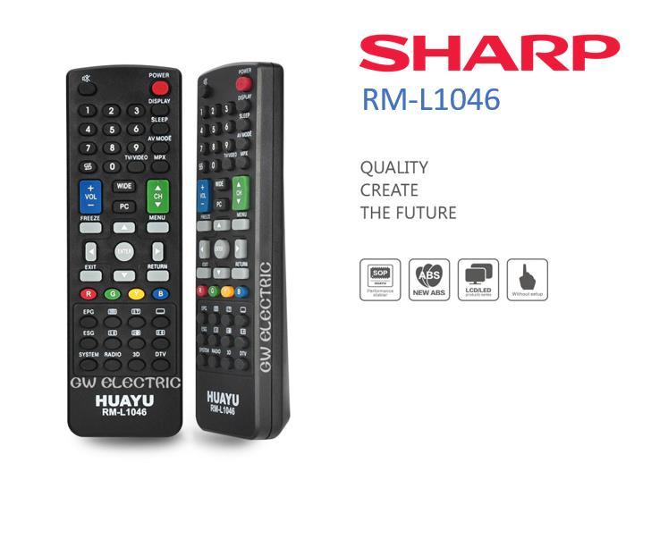 SHARP LED/LCD TV Remote Control Multi Models Compatible RM-L1046