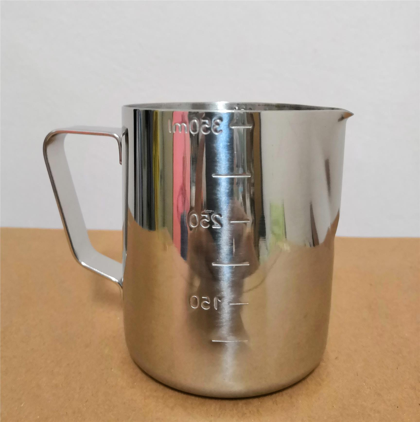 Sharp Mouth S/Steel Milk Frothing Steaming Pitcher Jug w/ Measurement