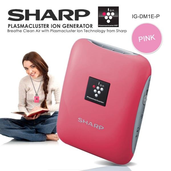 sharp plasmacluster. sharp pink compact portable plasmacluster ion generator ionizer sharp l