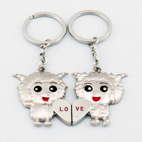 Sheep Goat In Love Lover Couple Key Chain Keychain K87