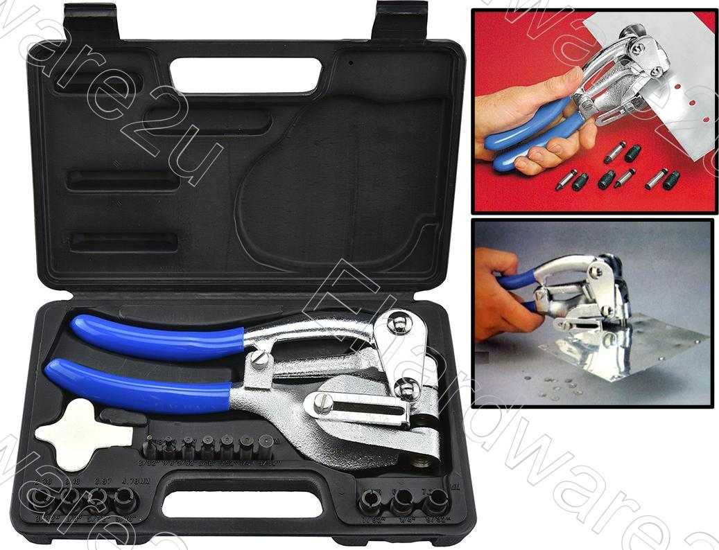 SHEET METAL MULTI POWER HOLE PUNCH TOOL SET 7-SIZES  (TL215)