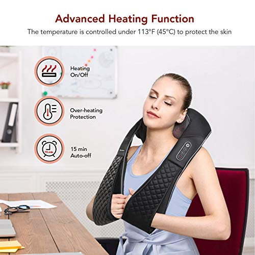 .... . Shiatsu Neck and Back Massager with Heat Electric Shoulder Massagers De