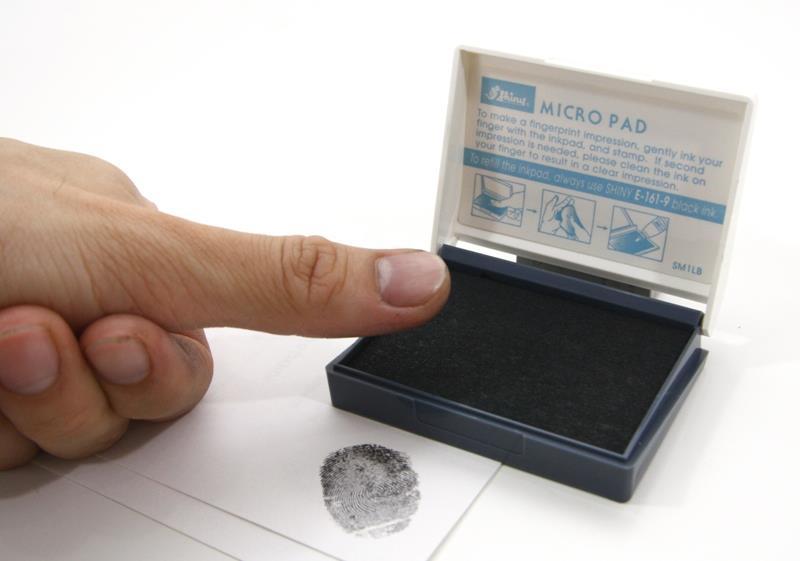 Shiny Thumb Print Pad Fingerprint Ink