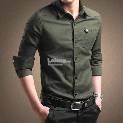 Shirt long sleeve cotton oxford shirt men's youth business solid color