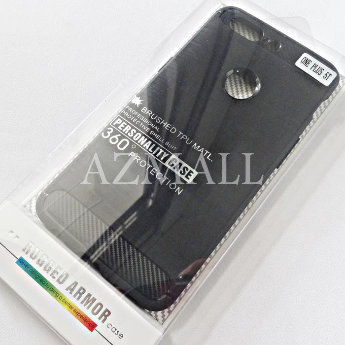 size 40 37d6a 5dddd Shockproof Rugged Armor Brushed TPU Jelly Case Cover OnePlus 5T *6.01