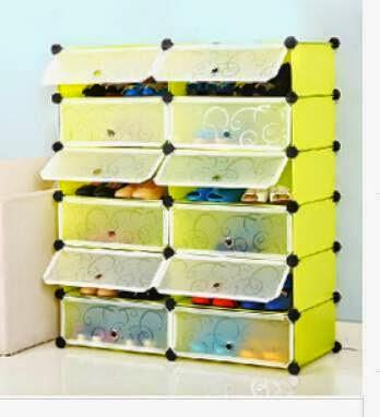 Shoe Rack, 12 Cube Cabinet (GREEN F (end 1/14/2015 11:09 AM)