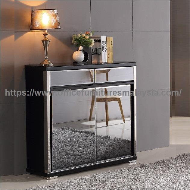Shoe Storage Cabinet With Glass Mirror YGSC-9524B subang balakong KL
