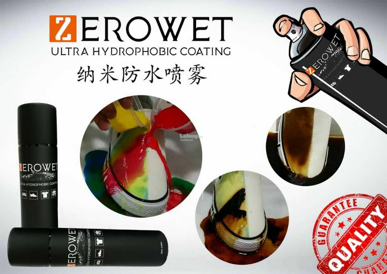 New Shoes Bag Cap Ultra Hydrophobic Coating Zerowet Spray