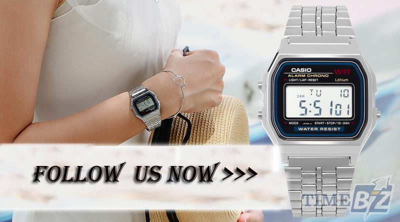 SHOP NOW! Casio A159WA-N1DF Unisex Digital Alarm Chrono Stainless Stee