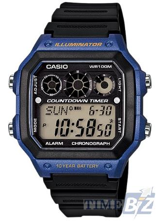 SHOP NOW! Casio AE-1300WH-2AVDF Blue-Black Square Resin Watch AE-1300W