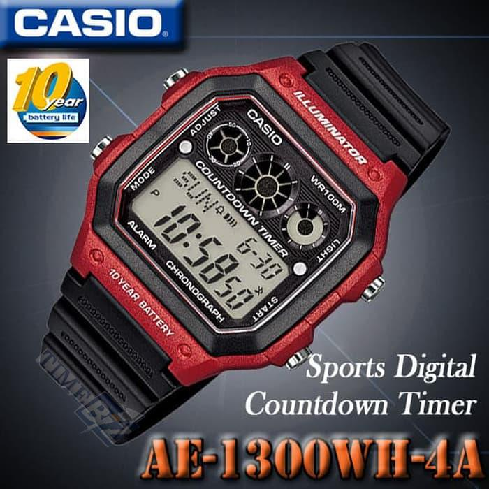 SHOP NOW! Casio AE-1300WH-4AVDF Sport Men Watch / AE-1300WH-4AVD / AE-
