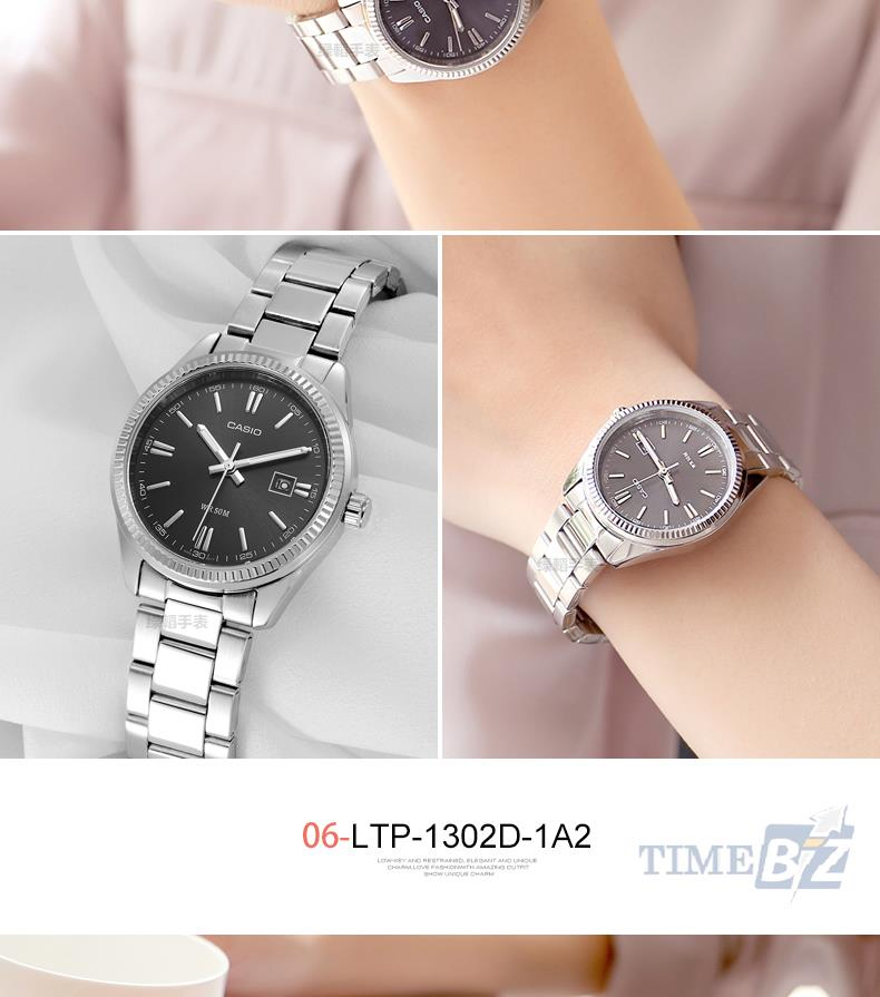 SHOP NOW! Casio LTP-1302D-1A2 Analog Ladies Stainless Steel Watch LTP-