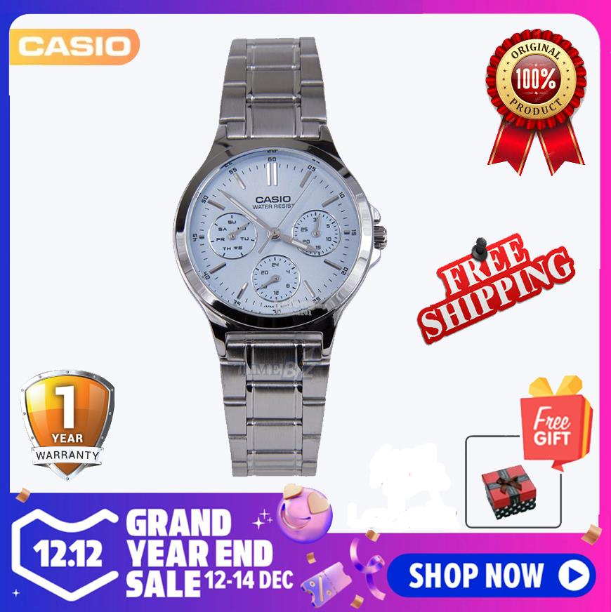 SHOP NOW! Casio LTP-V300D-2ADF Analog Women Watch-Silver Light Blue Ca