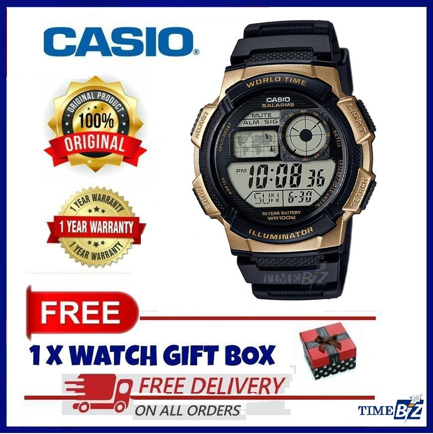 SHOP NOW! CASIO MEN'S AE-1000W-1A3 10-Year Battery Life Multi-Function