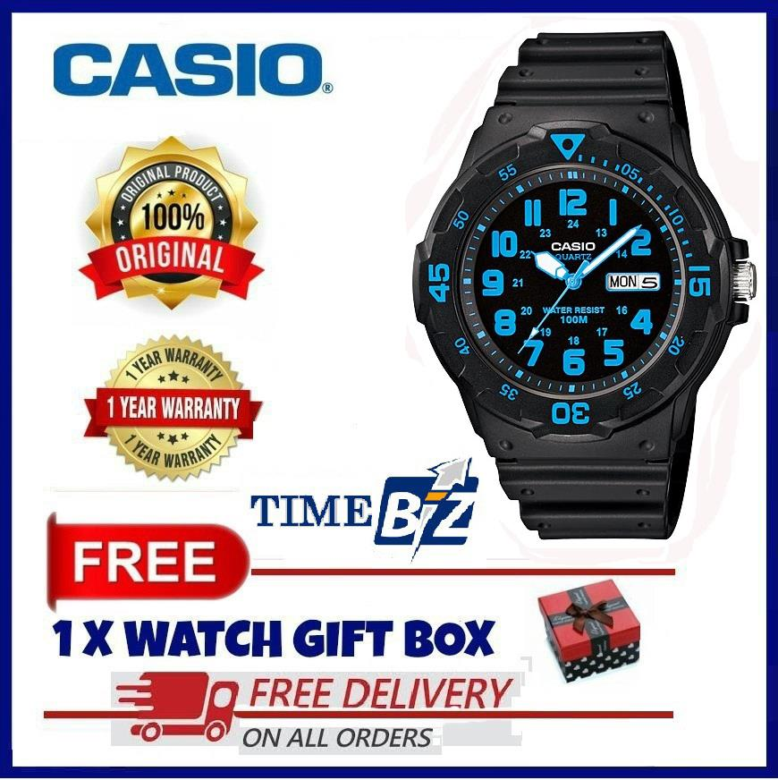 SHOP NOW! Casio MRW-200H-2BVDF RESIN BLACK MEN WATCH MRW-200H-2BV / MR