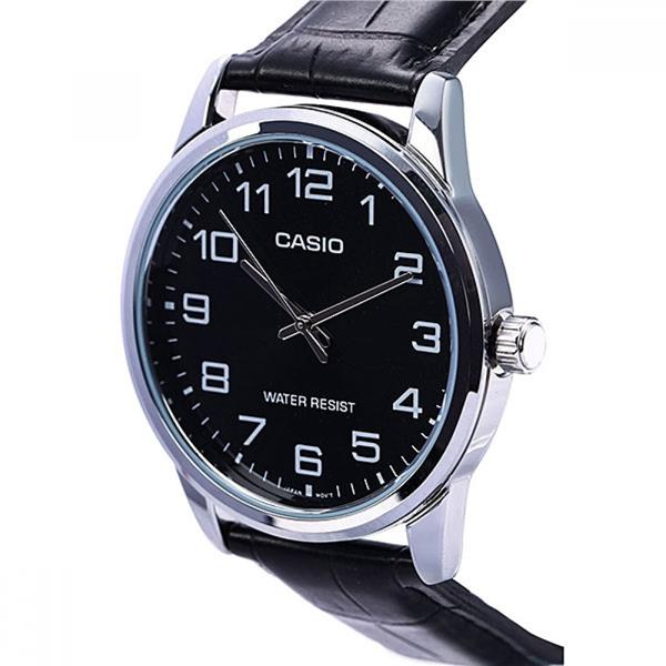 SHOP NOW! CASIO MTP-V001L-1BUDF Classic Black Leather GENTS WATCH MTP-