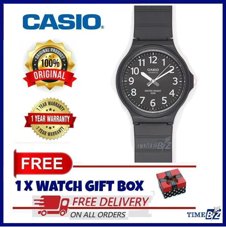 SHOP NOW! Casio MW-240-1B Men's Standard Analog Black Resin Band Watch
