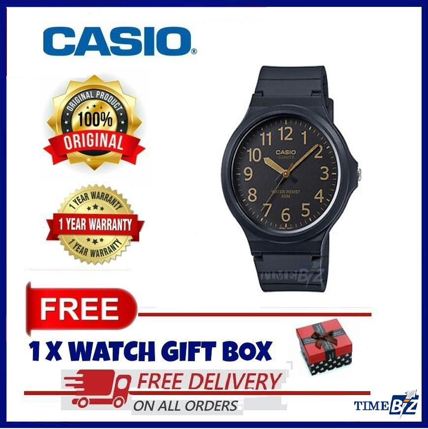 SHOP NOW! Casio MW-240-1B2 Men's Standard Analog Black Resin Band Watc