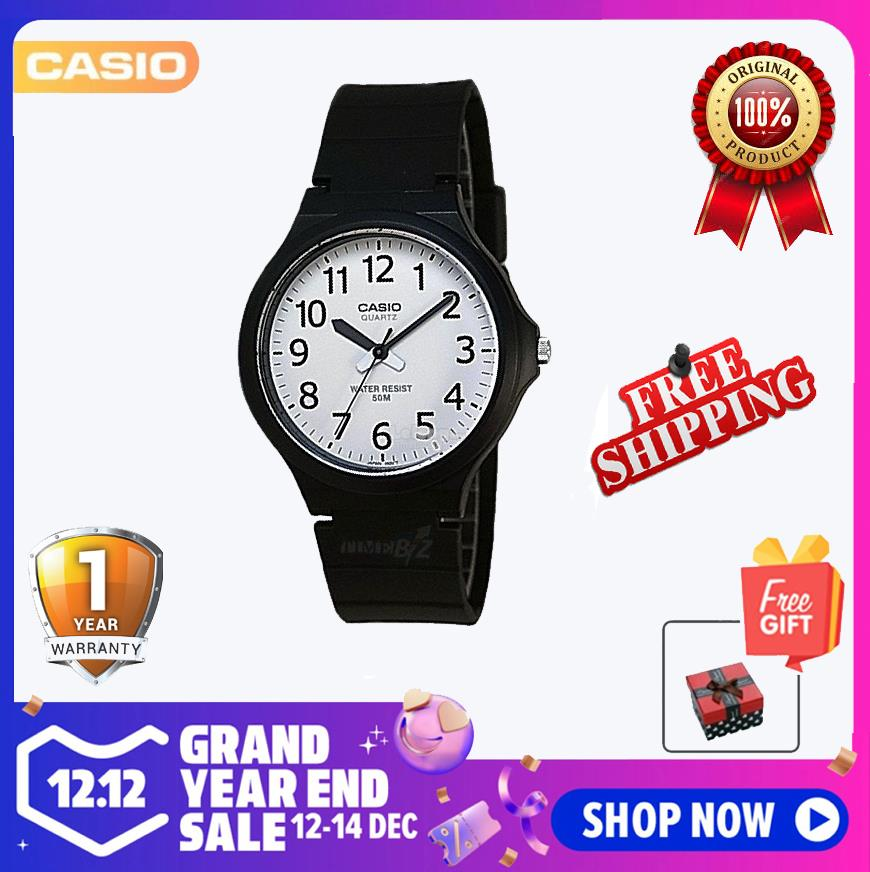 SHOP NOW! Casio MW-240-7B Men's Standard Analog Black Resin Band Watch