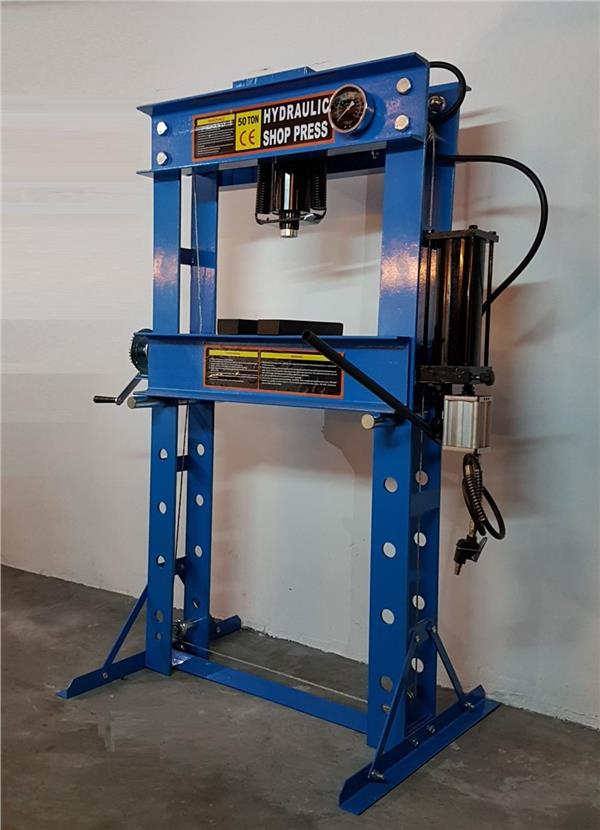Shop Press 50Ton Air Hyd with meter ID30941