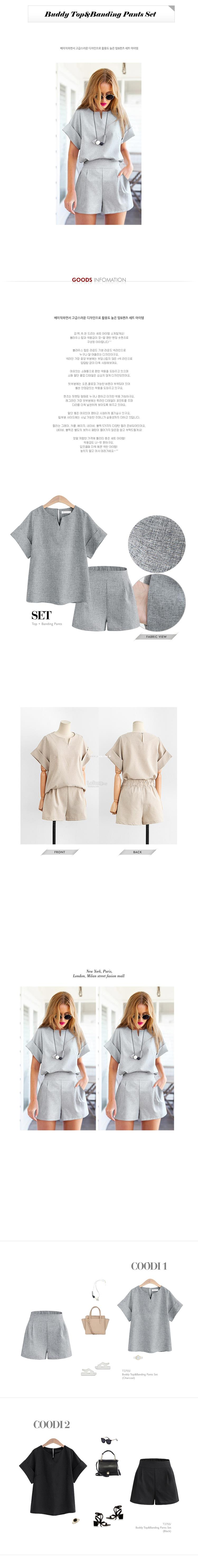 Short-sleeved Top Shorts Two-Piece Set Large Size Dress