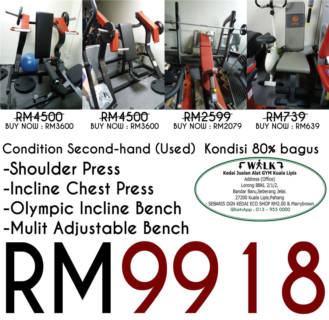 Shoulder Press,Incline Chest Press,Olympic Incline Bench,Mulit Bench