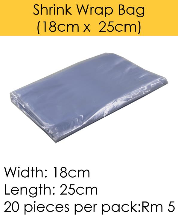 Shrink Wrap Bag (18cm x 25cm)