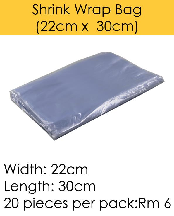 Shrink Wrap Bag (22cm x 30cm)