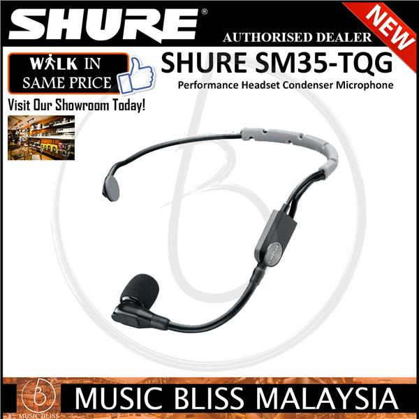 Shure SM35-TQG Performance Headset Condenser Microphone