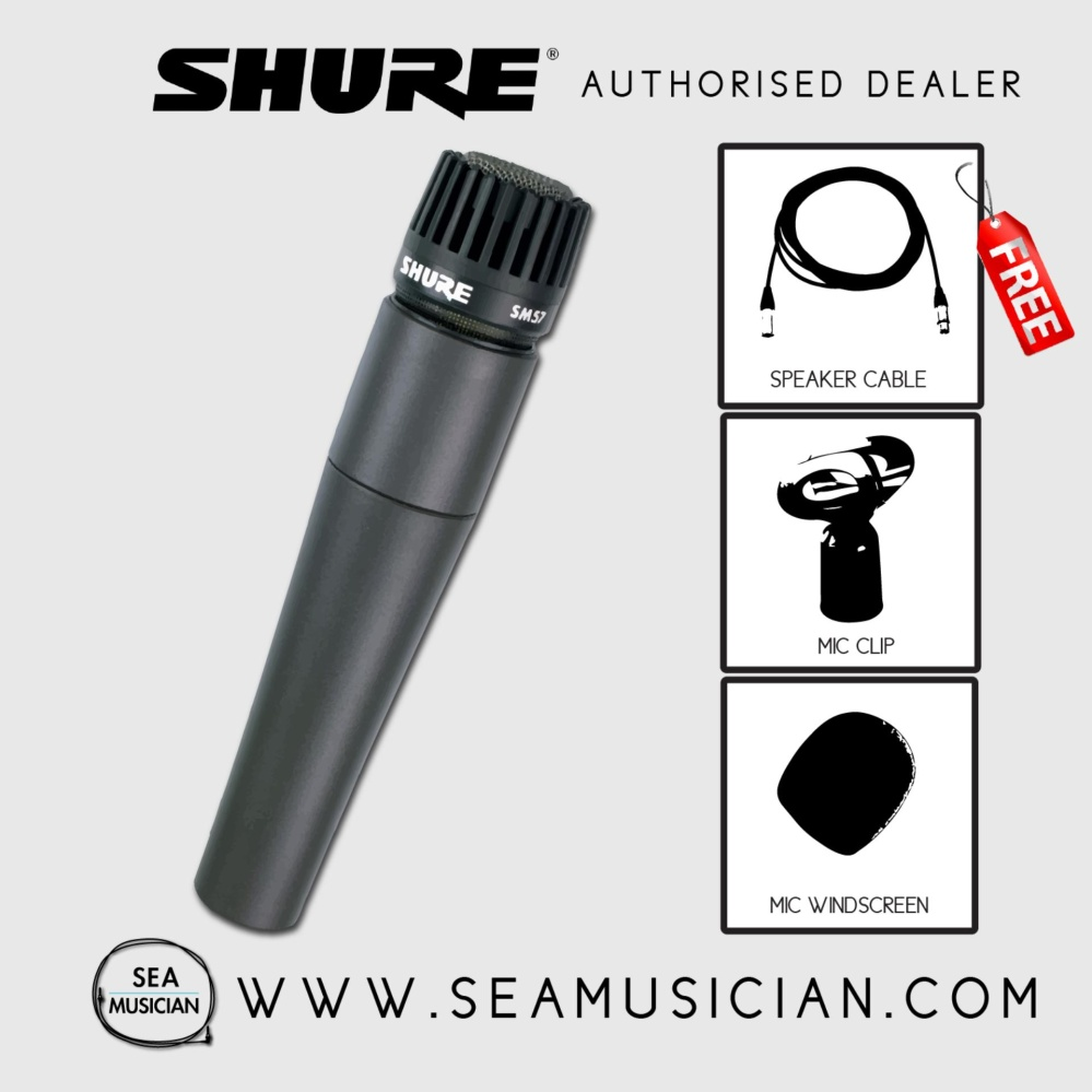 Shure Sm57 Lc Cardioid Dynamic Ins End 5 29 2020 524 Pm Mic Instrumen Instrument Microphone Free Cable