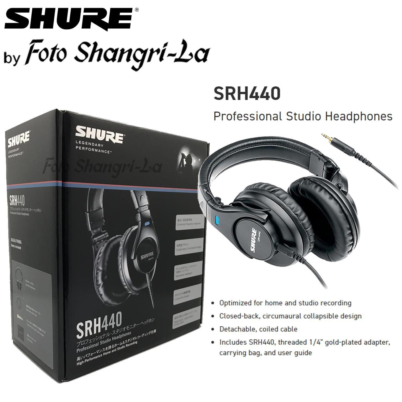 ad3221a1e82 Shure SRH440 Professional Studio Headphones Over-Ear Foldable Closed Back  Desi. ‹ ›