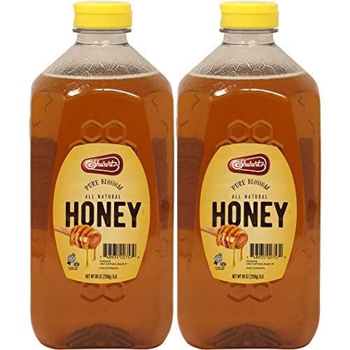 Shwartz Clover Honey, Pure All-Natural, Kosher For Passover, 80 Ounce Bottle (