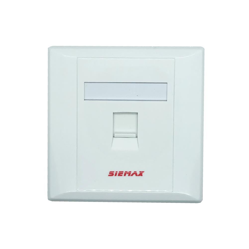 SIEMAX RJ-45 UTP LAN Network Single 1 Port Face Plate Faceplate Wall P
