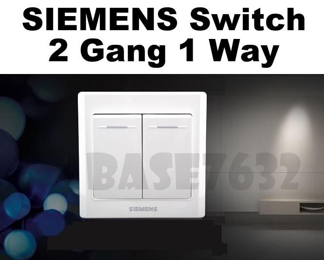 SIEMENS Wall Mounted 2 Gang 1 Way Socket Two Gang One Way Switch