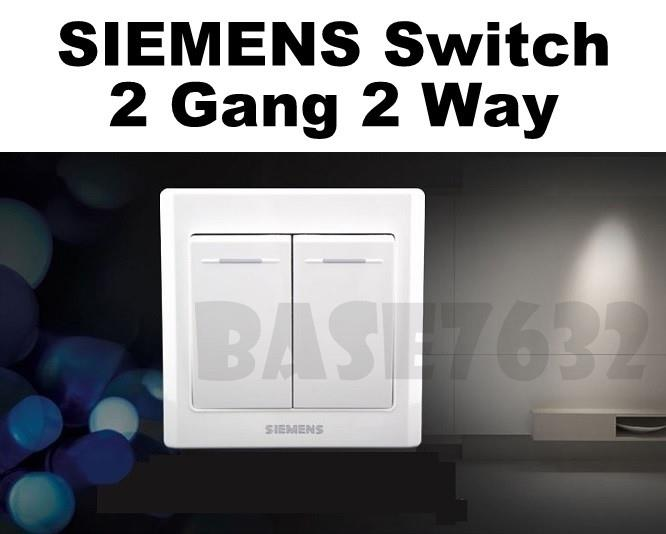 SIEMENS Wall Mounted 2 Gang 2 Way S (end 8/18/2018 11:19 AM)