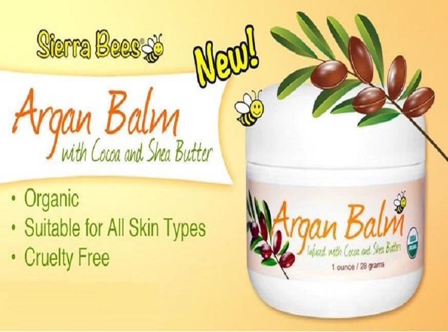 Sierra Bees, Argan Balm with Cocoa & Shea Butter (28 g)