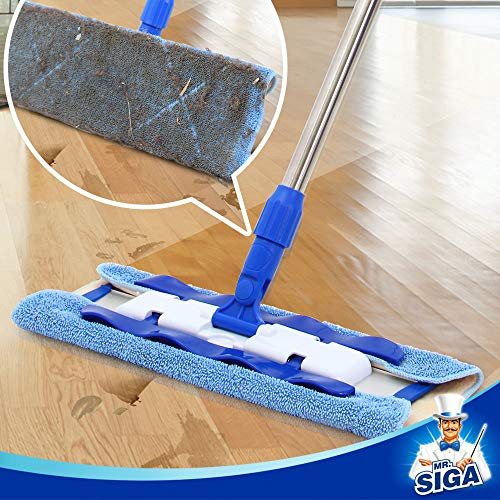 MR.SIGA Professional Microfiber Mop for Hardwood, Laminate, Tile Floor Cleanin