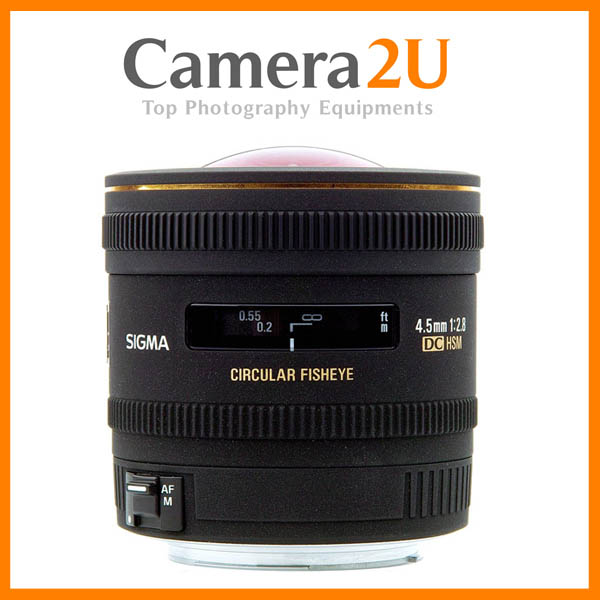 NEW Sigma 4.5mm F2.8 EX DC HSM Fisheye AF Lens for Canon (Import)
