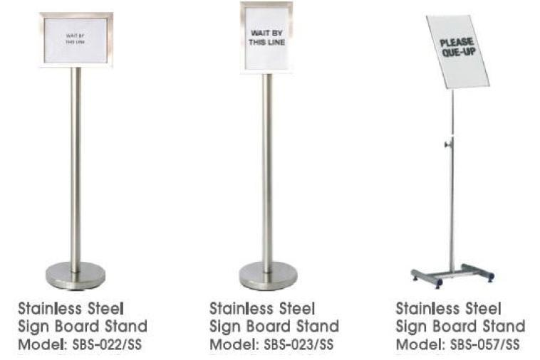 Sign Board Stand Stainless Steel SBS057SS 1080mmH A3 Adjus FOC Del KLV