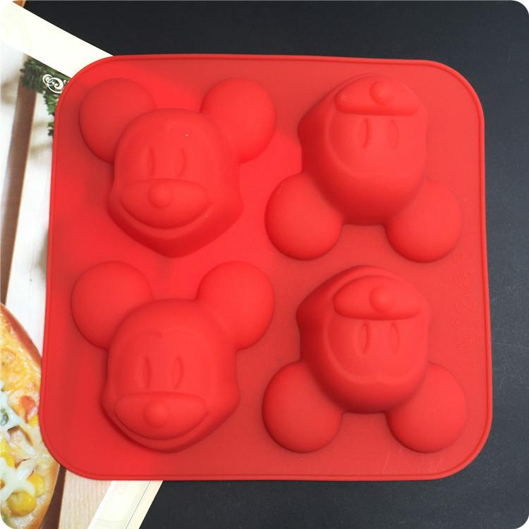 Silicone 4 in 1 Mickey Design Baking / Choc / Jelly / Soap Mold
