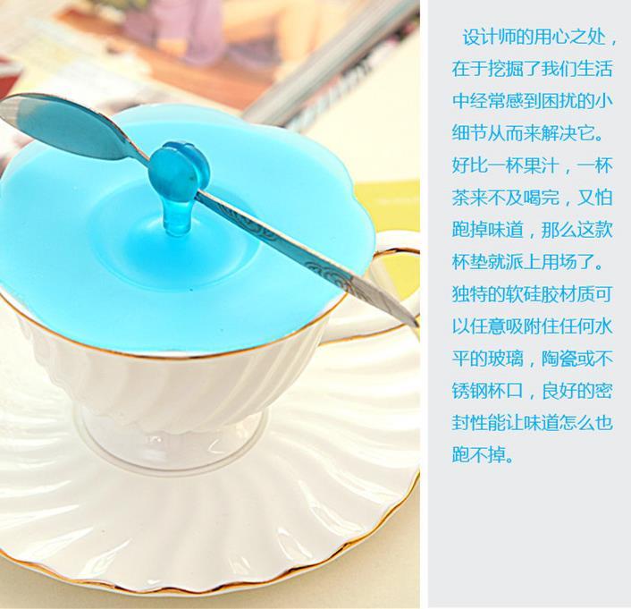 cc176e22daf Silicone Cup Cover Coffee Mug Lid Anti-dust Suction Sealed Cap
